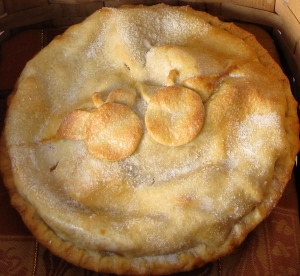 Julie Piragis's winning apple pie