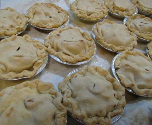 """These 5"""" McIntosh apple piesfeature a flaky top crust. Marge Cook of Cook's Farm Orchard in Brimfield, Massachusetts, has baked pies for the Big E for nearly 20 years. (Bar Lois Weeks photo)"""
