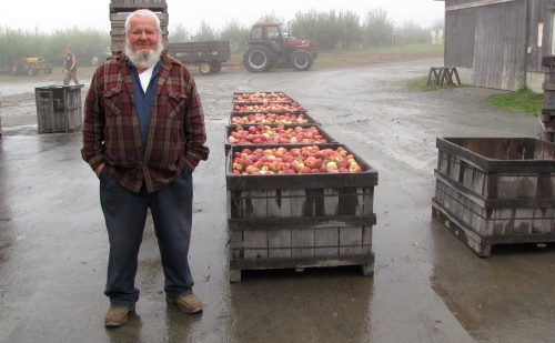 Like many growers, Roy Marks of Wellwood Orchards in Springfield, Vermont, will have apples at his country store through October, despite having just 60 percent of a normal crop. (Russell Steven Powell photo)