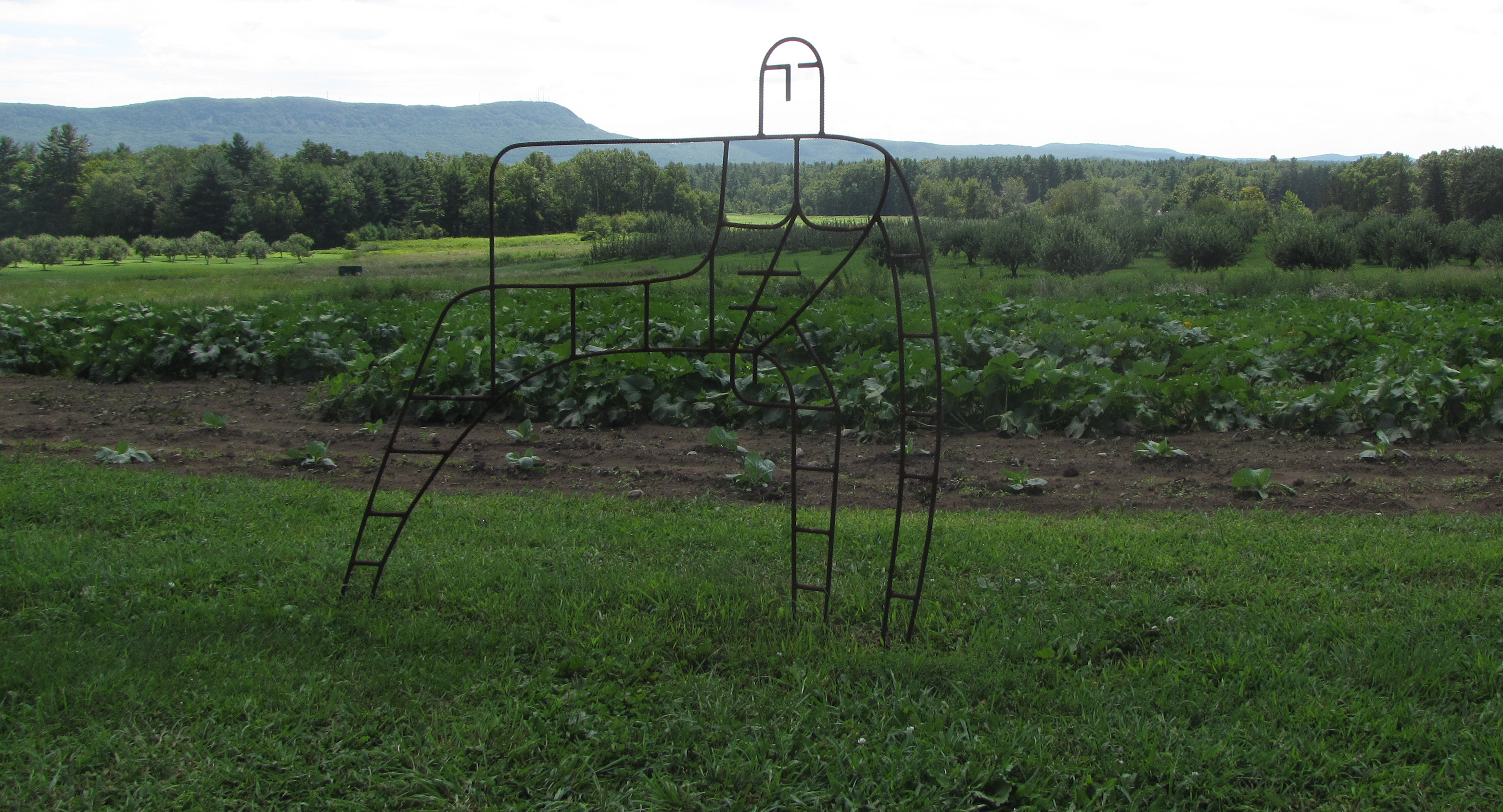 """Garden Man,"" by Bob Turan, at Art in the Orchard, Park Hill Orchard, Easthampton, Massachusetts. (Russell Steven Powell photo)"
