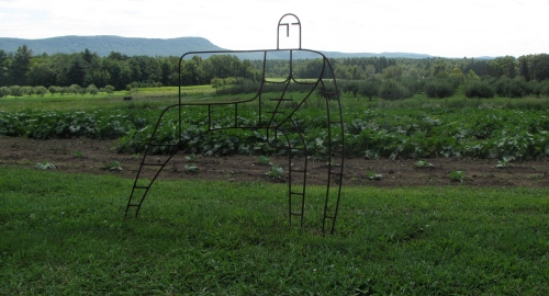 """Garden Man,"" by Bob Turan, at Art in the Orchard, Park Hill Orchard, Easthampton, Massachusetts"
