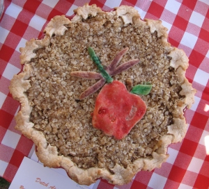While neither the maple leaf pie nor the dragonfly won awards, they were noteworthy for their beautiful appearance.