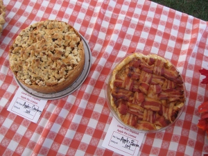 One of the more unusual apple pies had a bacon latticework top.
