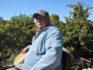 Owner James Steere, Steere Orchard, Greenville, Rhode Island (Russell Steven Powell photo)