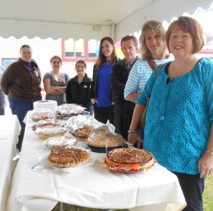 Bakers pose with their entries prior to judging at the 2014 Great New England Apple Pie Contest. (Bar Lois Weeks photo)