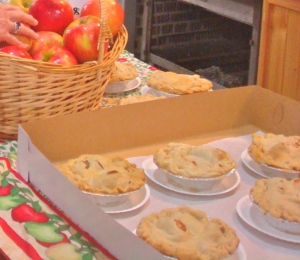 The apple pies at the Big E featured a mix of varieties. (Bar Lois Weeks photo)
