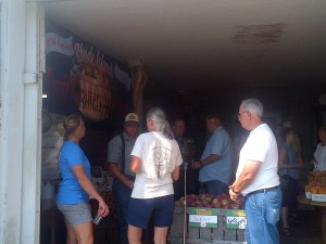 Rhode Island Chief of Agriculture Ken Ayars took this photo of the crowd gathered at Steere Orchard in Greenville.